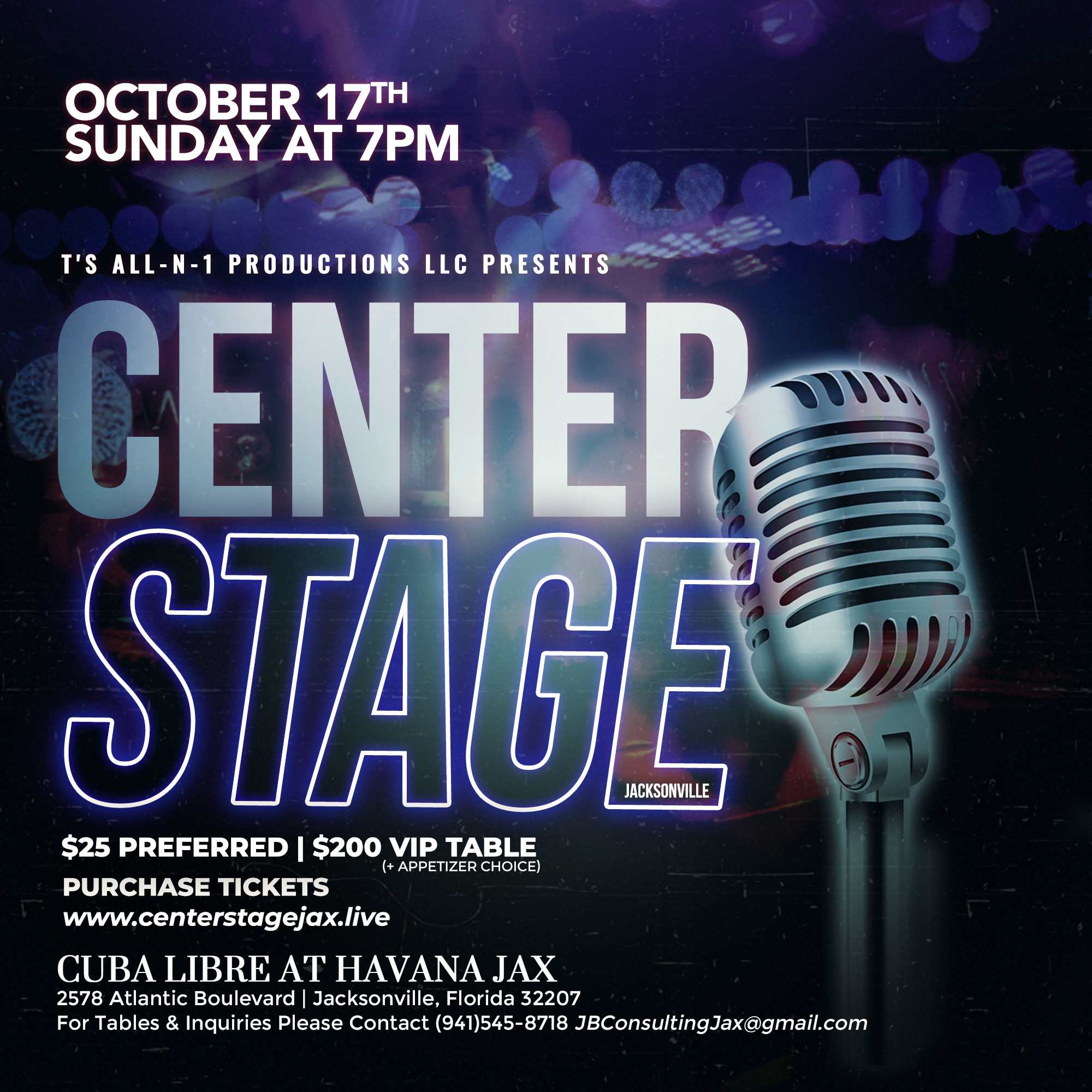 Center Stage Jacksonville at Cuba Libre Havana